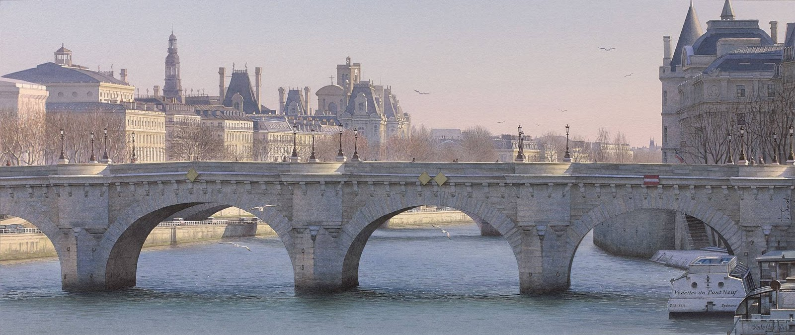 9 seagulls and the Pont Neuf, ?