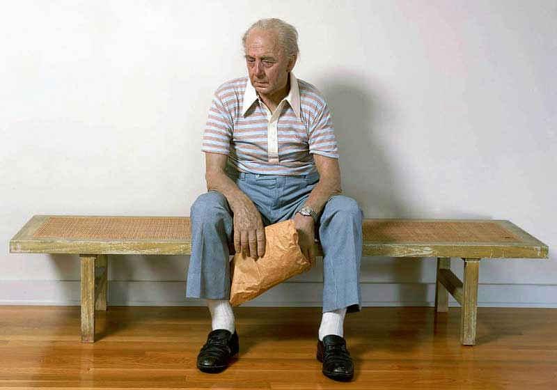 Man on bench, 1977-1978