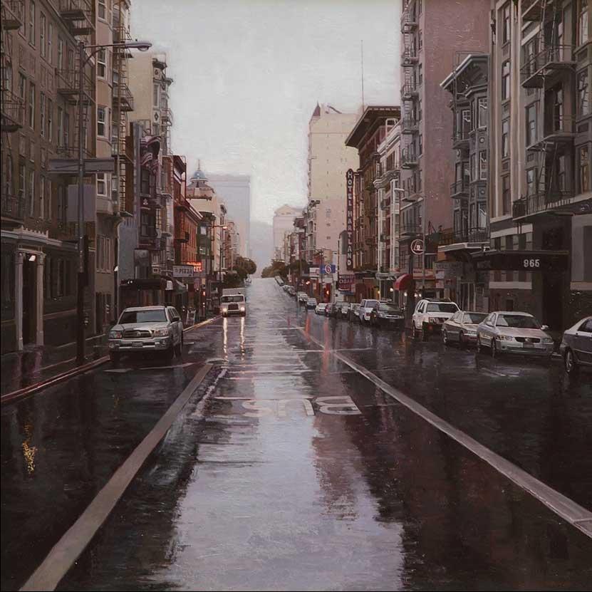 Rain on Geary, 2014