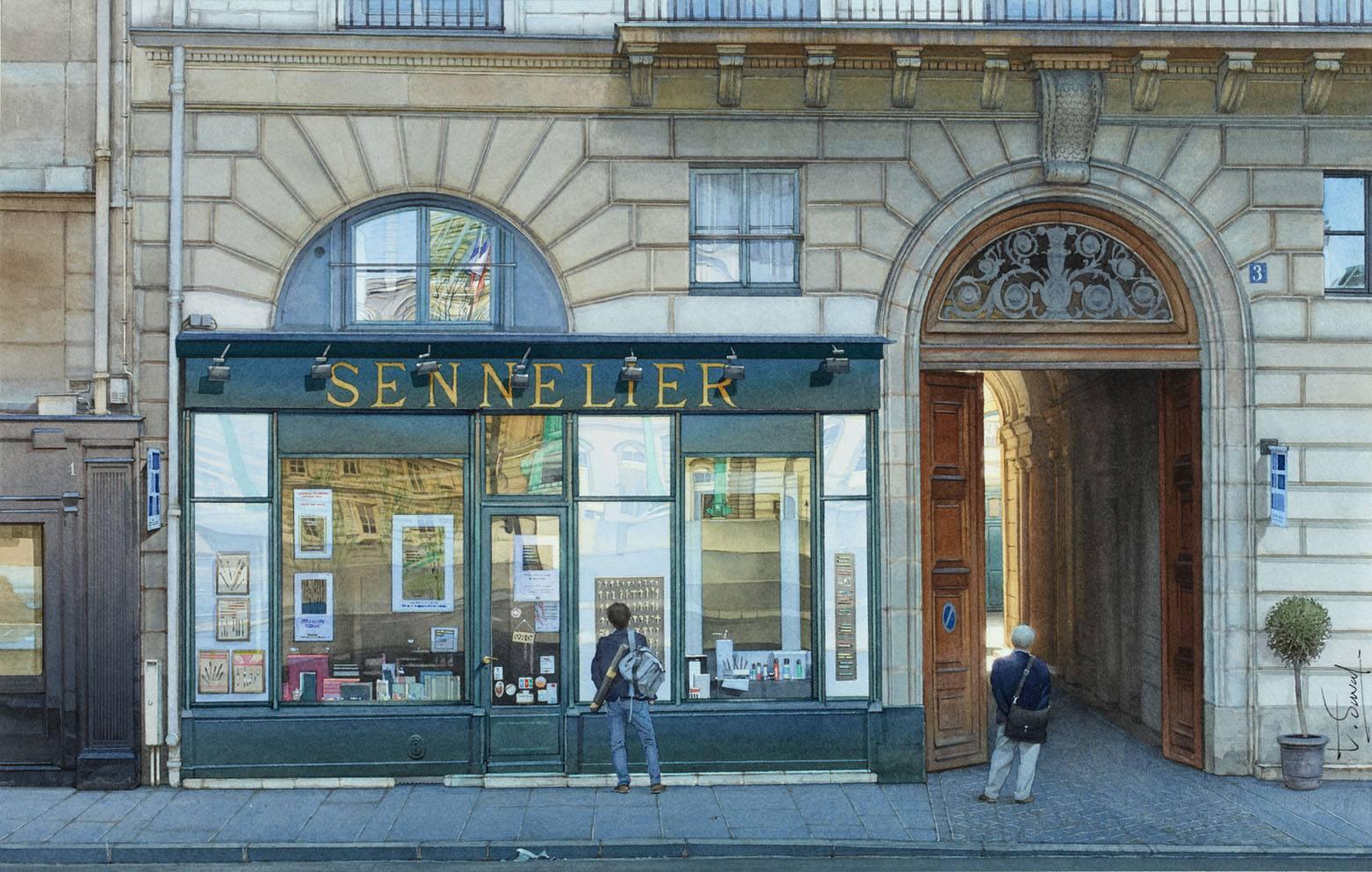 Le magasin Sennelier ou la caverne et l'artiste, ?