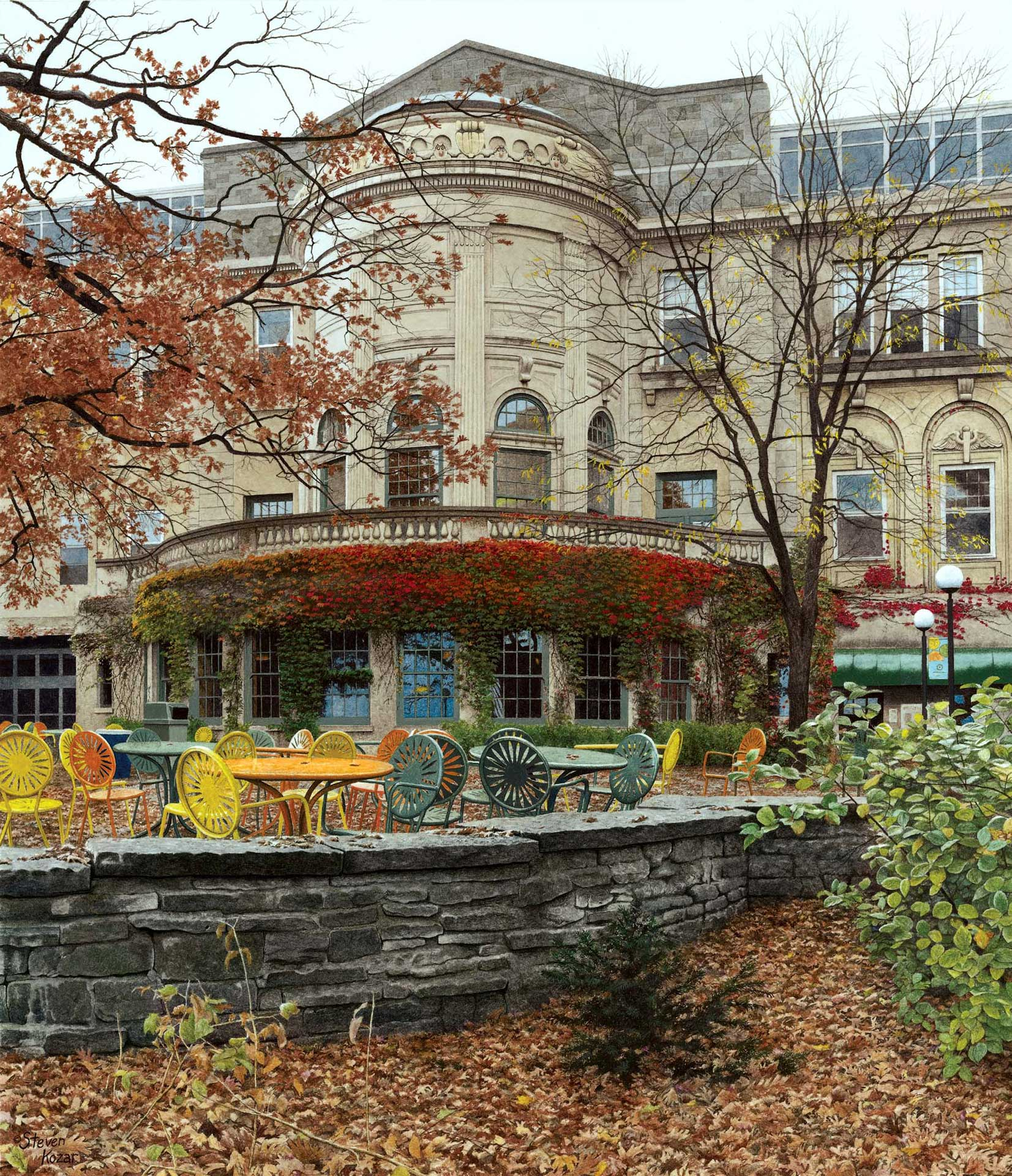 Autumn at the Union Terrace, 2004