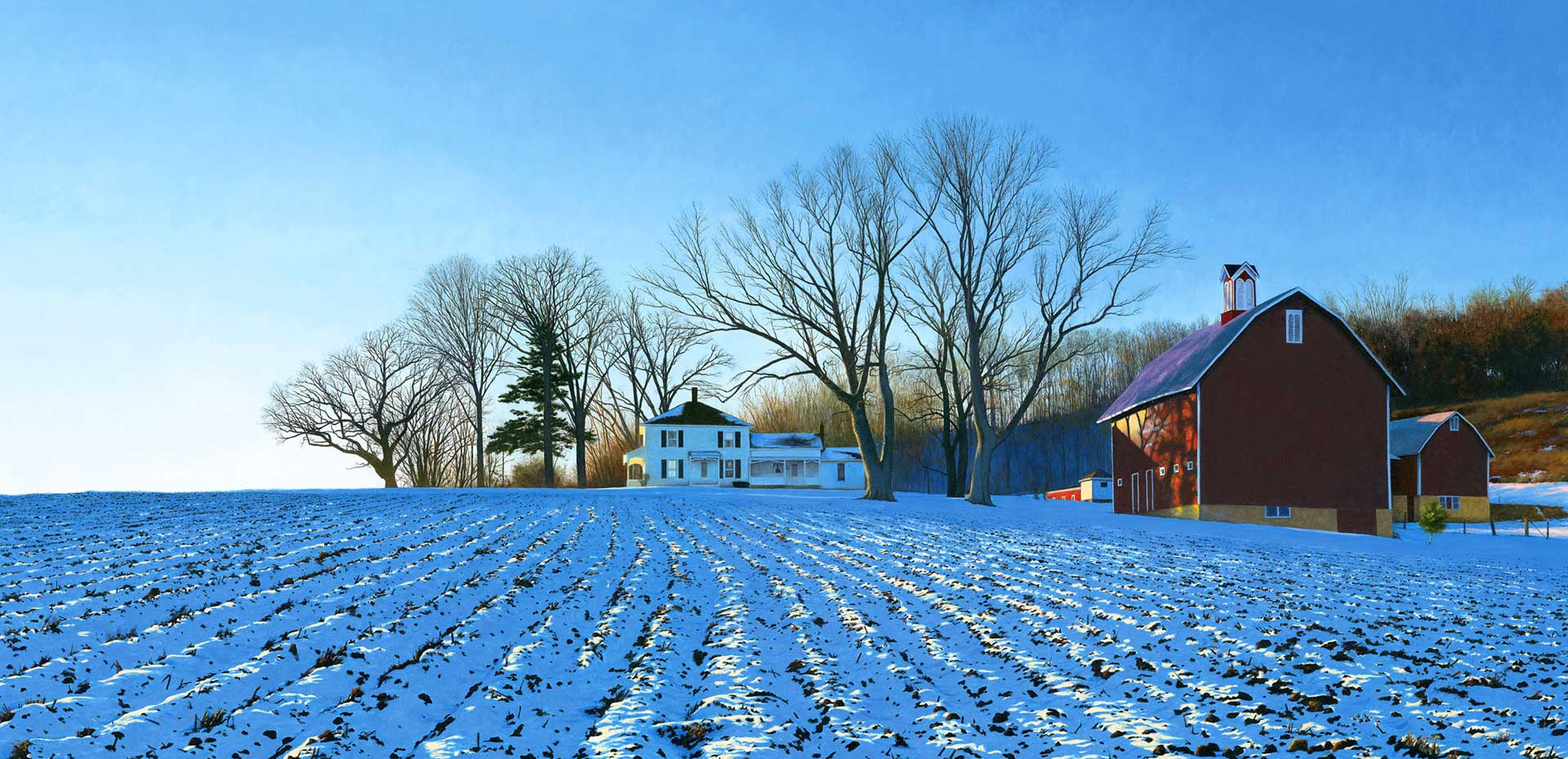 Winter at the Donald Farm, 2002