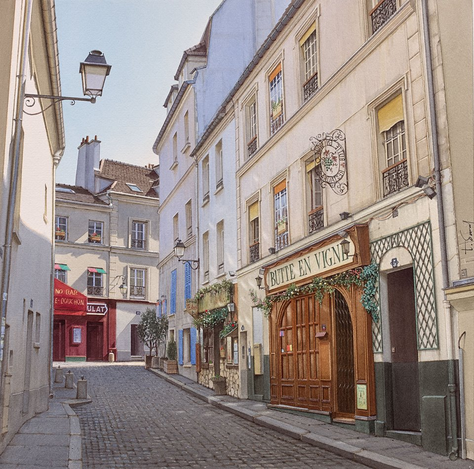 The Poulbot street at Montmartre,?
