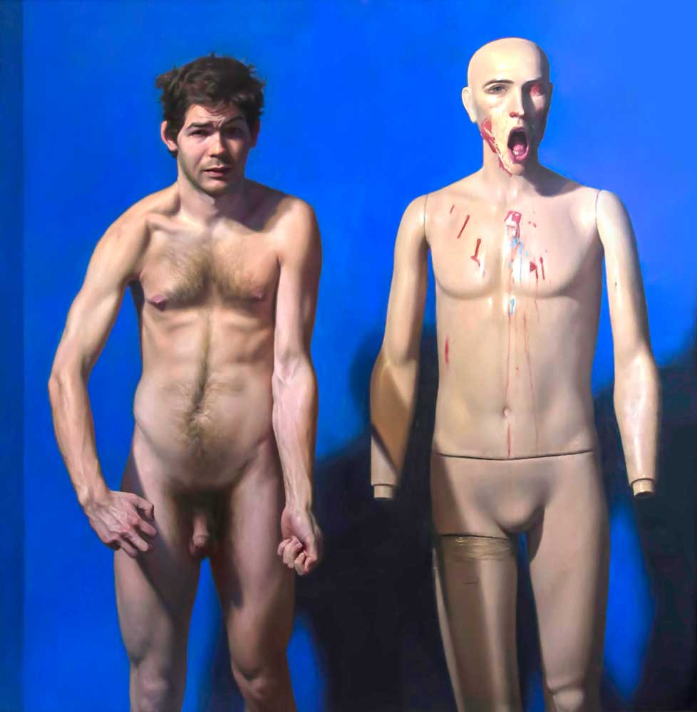 Self portrait with Mannequin, 2004